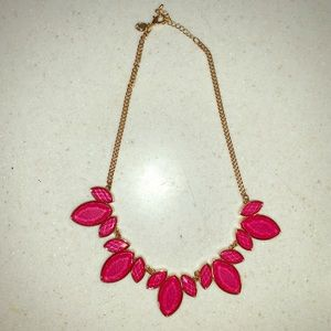 Francesca's pink stone statement necklace